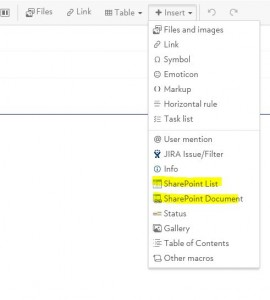 SharePoint Macros in Confluence Wiki